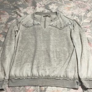 Comfy distressed look sweater by guess